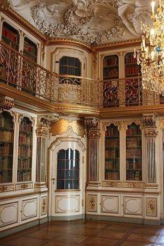 Dettaglio della biblioteca di Christiansborg Palace, Copenaghen