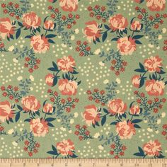 Acorn Trail Peonies Mint from @fabricdotcom to make my Schoolhouse Tunic  Designed by Teagan White for Birch Fabrics, this GOTS certified organic cotton print fabric is perfect for quilting, apparel and home décor accents. Colors include cream, peach, coral, mint, teal and dark blue.