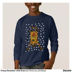Funny Reindeer with Stars