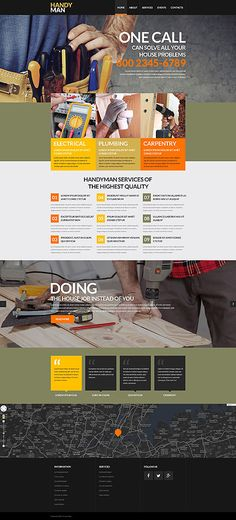 Template 52861 - Handyman Services  Responsive Website Template