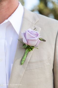 lavender rose boutonniere for the groom, cavin elizabeth photography