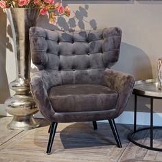 Richmond Interiors Fauteuil kopen? • Grote collectie • Sohome Emily Stone, Richmond Interiors, Elegant Chic, Accent Chairs, Armchair, Velvet, Furniture, Home Decor, Products