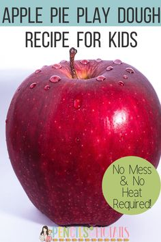This no mess and no heat homemade play dough will have your classroom smelling delicious and is perfect to use when studying Johnny Appleseed! We have loved this unit packed with crafts, experiments, ELA practice, math skills, and more! #playdough #kindergarten #firstgrade #applepie #johnnyappleseed