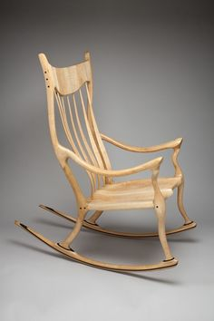 Custom made Rocking Chairs handcrafted by Scott and Stephanie Shangraw and inspired by Sam Maloof Rocking Chair Plans, Rocking Chairs, Woodworking Projects Diy, Fine Woodworking, Sam Maloof, Parsons Chairs, Rocker Style, Chair Design, Furniture Design