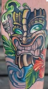 What does tiki tattoo mean? We have tiki tattoo ideas, designs, symbolism and we explain the meaning behind the tattoo. Tiki Tattoo, Hawaiianisches Tattoo, Tiki Head, Polynesian Islands, Hawaiian Tattoo, Hula Girl, Arizona Tea, Animal Tattoos, Drinking Tea
