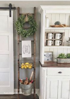We have some Charming and Inexpensive Farmhouse Kitchen Updates for you today. A quick and easy way to give your Farmhouse Kitchen a new and fresh look! kitchen decor Charming and Inexpensive Farmhouse Kitchen Updates - The Cottage Market Farmhouse Style Kitchen, Country Farmhouse Decor, Modern Farmhouse Kitchens, Farmhouse Chic, Cottage Farmhouse, Farmhouse Ideas, Farmhouse Design, Farmhouse Table, Country Living