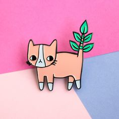 This friendly plant-loving feline. | 15 Irresistibly Cute Pins Every Plant-Lover Needs