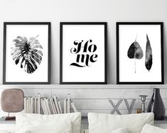 Monstera Leaf Print, Set of 3 Prints, Black and White Art, Botanical Set of 3, Botanical Print Set, Scandinavian Set 3, Scandinavian Prints THESE ARE INSTANT DOWNLOADS – Your files will be available instantly after purchase. :::: Please note that this is a digital download ONLY,