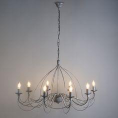 Candelabro ZERO BRANCO 8 gris envejecido  #lamparas #decoracion #iluminacion