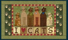 Snow Cat Free Quilt Pattern by Four Twin Sisters