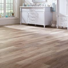 TrafficMASTER Allure 6 in. x 36 in. Khaki Oak Resilient Vinyl Plank Flooring (24 sq. ft. / case)-185312 - The Home Depot