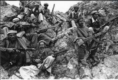 Mujahedeen rebels fighting Soviet troops in Afghanistan, 1980