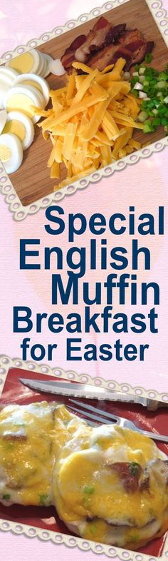 Special English Muffin Breakfast - perfect for Easter morning! Topped with hard-cooked egg, fried bacon and a delicately seasoned white sauce. YUM! | delishable.net