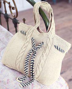 sac marin tricot, free pattern, knit, knit bag