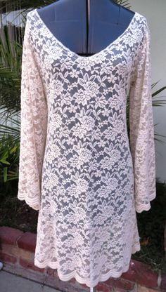 Ivory Lace Embroidered Bohemian/Boho/Gypsy MINI by sewwhatgrandma, $85.00