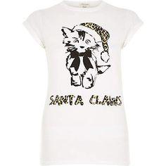 White Santa claws t-shirt 8,00 €