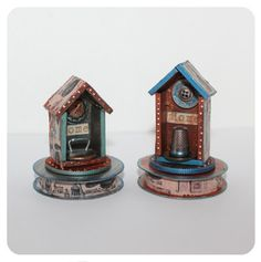 By Design Team Member Gerri Herbst using Mini House Shrine Kits from www.RetroCafeArt.com