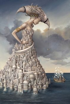 Juxtapoz Magazine - Magical Surrealism by Tomek Setowski Vladimir Kush, One Photo, Nice Picture, Rene Magritte, Magic Realism, Pop Surrealism, Modern Surrealism, Art Plastique, Oeuvre D'art