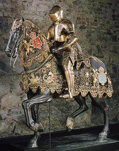 Real armor that used to belong to the Swedish king Gustav II Adolf, and originally worn as part of the festivities surrounding his wedding with Maria Eleonora in 1620.