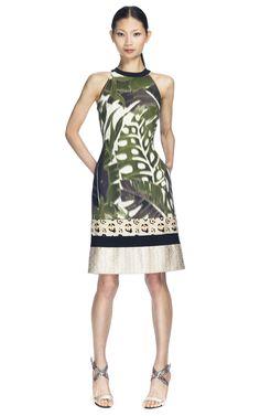 Jungle Combination Halterneck Dress by Giambattista Valli for Preorder on Moda Operandi