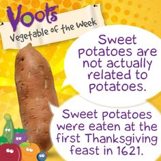 Fun facts on sweet potatoes, the Voots Vegetable of the Week!