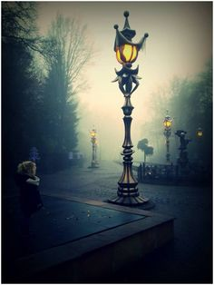 Beautiful lamp post, Efteling theme park, Netherlands