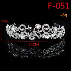 F051 Rhinestone Flower Blossom Inspired Wedding Tiara Headband Bridal Tiara  Crown Prom Pageant Headpieces Hair Jewelry d98a3b000bff