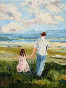 Modern Art by Elmarie Robin includes A Beautiful Life, a superb example of the Landscape Art modern artwork that is available from our Online Contemporary Art Gallery. View other Paintings by Elmarie Robin in our Modern Art Gallery. Dad Drawing, Baby Girl Drawing, Very Easy Drawing, Father Daughter Tattoos, In Memory Of Dad, Father's Day Diy, Diy Canvas Art, Modern Artwork, Cute Family