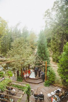 Mickey & Wes's Twin Peaks Forest Wedding  I  Hidden Creek  I  Pine Rose Cabins