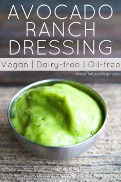 Avocado Ranch Dressing - The Local Vegan // www.thelocalvegan.com