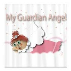 Raggedy Isabella Guardian Angel Shower Curtain > Raggedy Isabella > Angelic Inspirations J.L. Designs