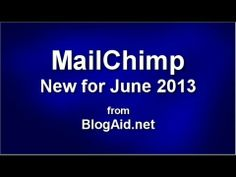 New in MailChimp 2013 User Interface, Tuesday, Wordpress, News, Blog, Blogging