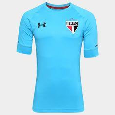 Camisa Under Armour São Paulo Goleiro II 16/17 s/nº - Jogador - Azul Piscina