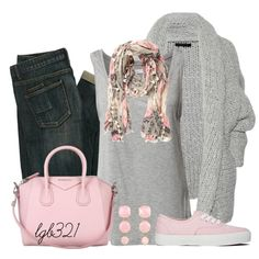 Pink & Gray, created by lgb321 on Polyvore