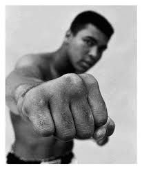 Muhammad Ali.  I remember watching him with my daddy.  Float like a butterfly, sting like bee.