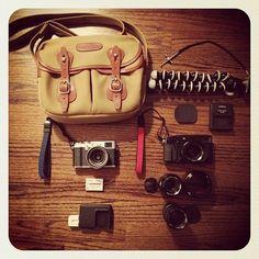 Billingham bag + Fuji X100S