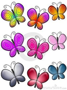 Butterfly Isolated Clip Art Stock Image - Image: 2807031