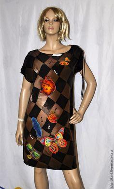 """Платья ручной работы. Ярмарка Мастеров - ручная работа. Купить Шелковое платье """" Безумное чаепитие"""". Handmade. Коричневый"""