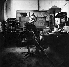 Man Ray in his Parisian Studio, 1967