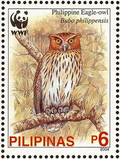 Philippine Eagle-Owl stamps - mainly images - gallery format