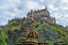 Edinburgh Castle and the Ross Fountain