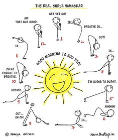 surya namaskar sun salutation for kids  with mantras