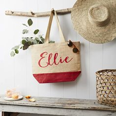 Personalised Name Shopping Bag Red by Tillyanna, the perfect gift for Explore more unique gifts in our curated marketplace. Jute Shopping Bags, Jute Bags, Unique Gifts, Weaving, Reusable Tote Bags, Personalized Items, Prints, Accessories