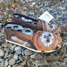Ewok TOMS or Vans - New Shoes Included - Made to Order - MENS / WOMENs -Star Wars - Wickett