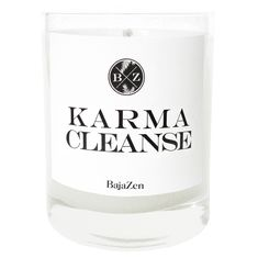 * Promo codes do not apply to this product, due to the brand's request.Elevate your space and indulge your senses. Baja Zen candles are hand-poured in the USA and made with deluxe, fine fragrances + pure cotton wicks. Karma Cleanse is a crisp and refreshing scent that combines notes of cool mint, fresh lavender, and uplifting citrus.