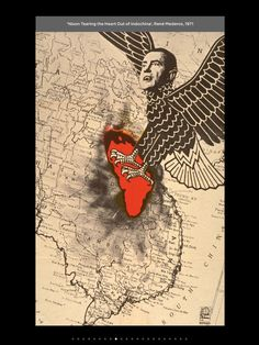 'Nixon Tearing the Heart out of Indochina' - René Mederos, 1971