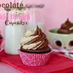 Chocolate Peanut Butter Cookie Dough Cupcakes
