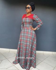 Winter Maxi Dresses @nedim_designs +27829652653 African Fashion Skirts, African Maxi Dresses, African Attire, African Wear, Chitenge Dresses, Abaya Fashion, Fashion Outfits, Winter Maxi, Traditional Outfits