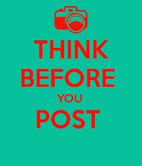 Great article from Web Safety on Thinking Before You Post.