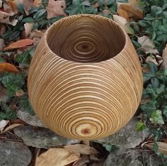 Wood Bowl Large  HOLIDAY SALE  Beautiful Layers by sunsetturnings, $65.00